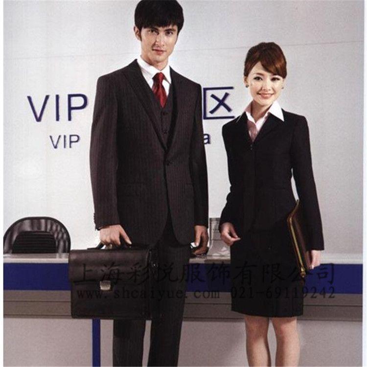 高档修身款白领套装 定做高单西装 企业商务套装 女式职业西装