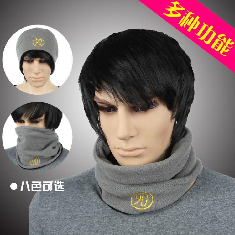 脖套男冬季加绒保暖抓绒围脖女多用途防风骑行蒙面罩学生护脖套潮