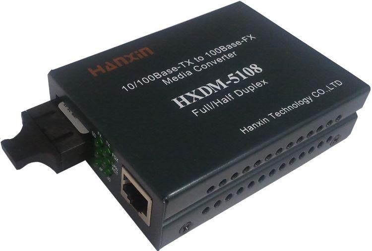光纤收发器厂价直销,0/100M自适应1光1电网络光纤收发器
