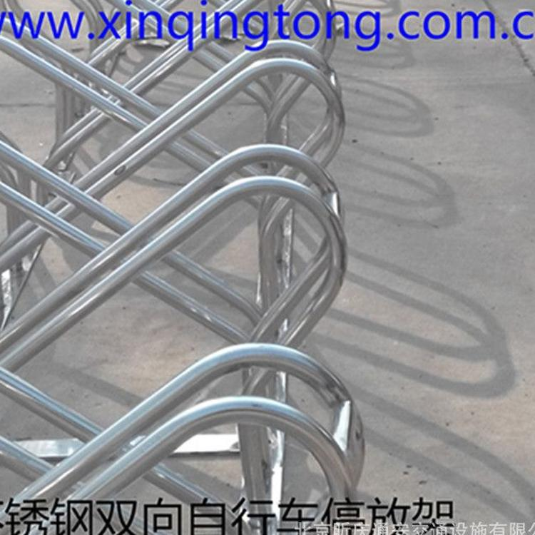 厂家制作自行车停放架 螺旋式自行车停放架 不锈钢自行车架 简易型自行车停放架 自行车架