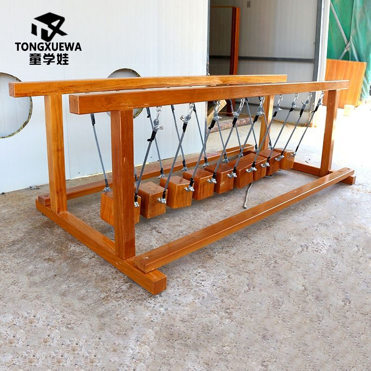 感统训练器黄花梨幼儿园树桩儿童木制荡桥平衡独木桥平衡训练木质