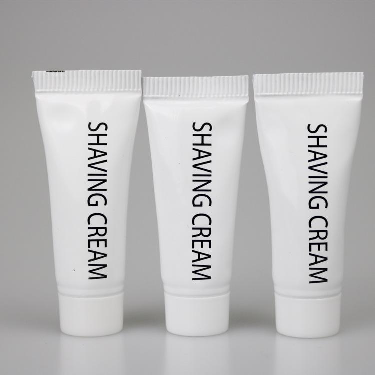 铝塑管锡纸封口一次性客房用品旅行用品一次性剃须膏10克装