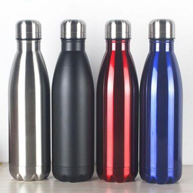 304双层不锈钢可乐瓶真空保温杯永康厂家批发  LOGO来样加工定制