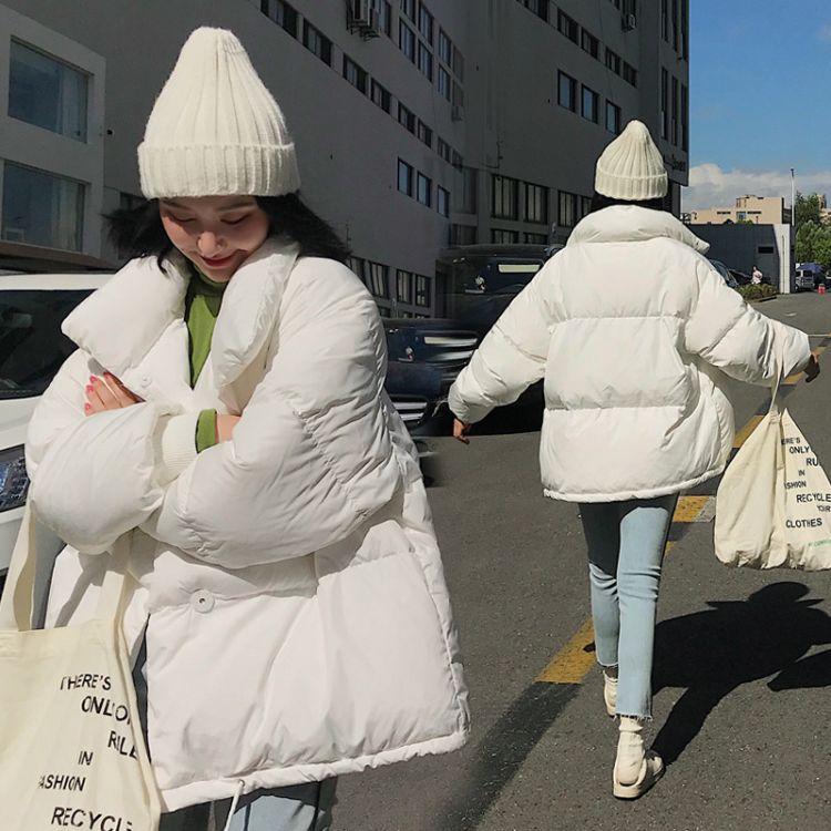 一件代发2018韩版新款大码加厚面包服女装棉服学生立领短款外套