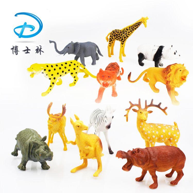 6只6寸PVC环保料仿真野生动物模型批发零售