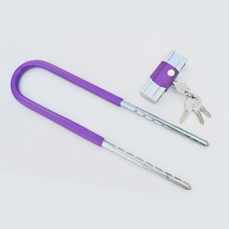 多用摩托车电动车锁 原子钛金挂锁【新款】912加重型玻璃门U型锁