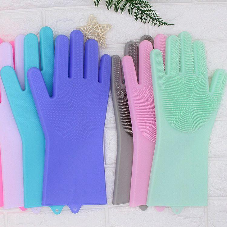 魔术硅胶手套 家务清洁隔热手套 洗碗神器防滑手防水橡胶乳胶耐用