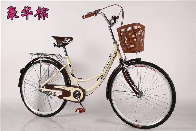 厂家现货直供24寸通勤淑女自行车城市休闲复古单车成人公主车