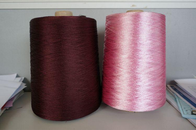 厂家直供粘胶人造丝120/1,150D/1,300D/,600D/1针织用色筒纱