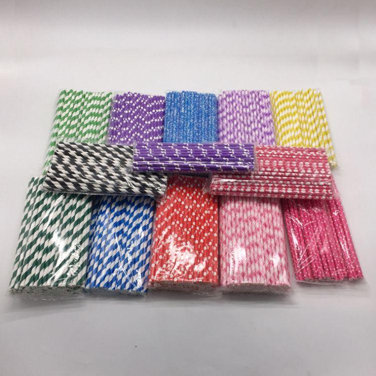 厂家直销 纸吸管 彩色覆膜烫金纸吸管 一次性纸质吸管
