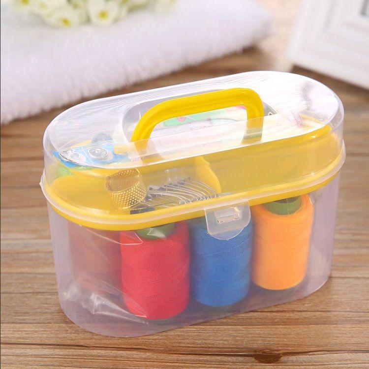 针线盒套装 家用缝纫组合 居家大针线盒缝纫套装百宝箱