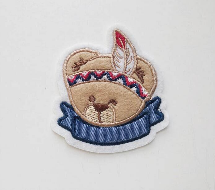毛毡布贴布绣 动画卡通形象 儿童手工DIY绣花章 小孩服饰鞋帽可爱