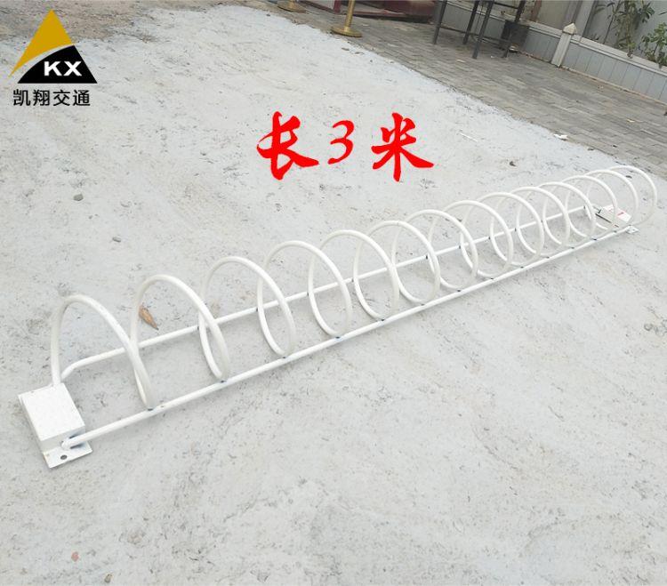 深圳厂家直销镀锌钢管非机动车停放架电动车泊车架自行车螺旋锁摆