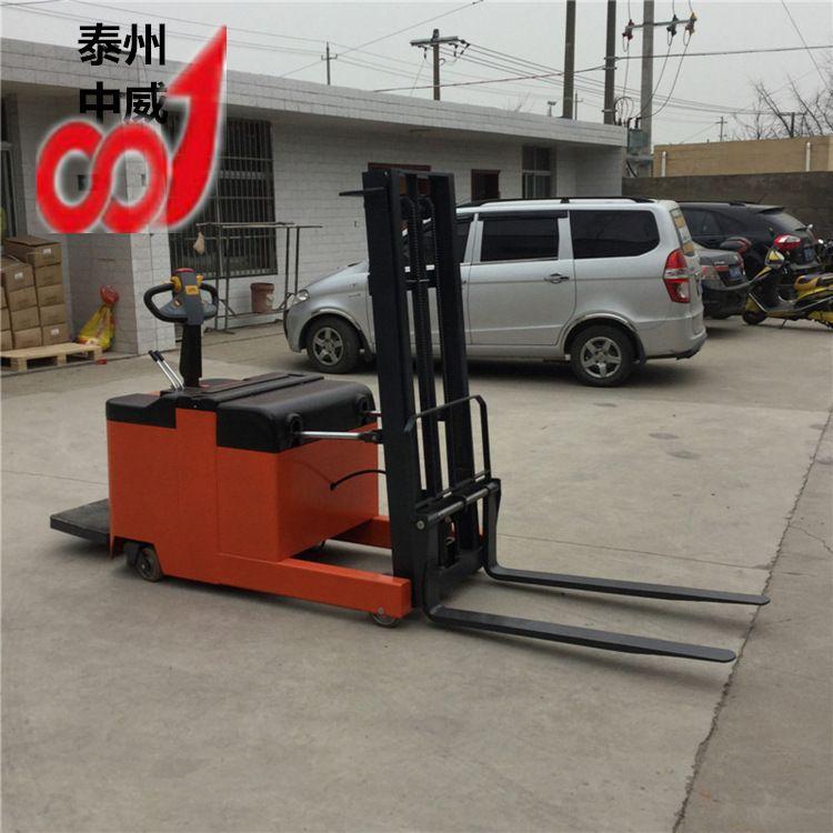 厂家直销半电动叉车 手推电升堆高叉车 半电动堆高车1.5吨2米