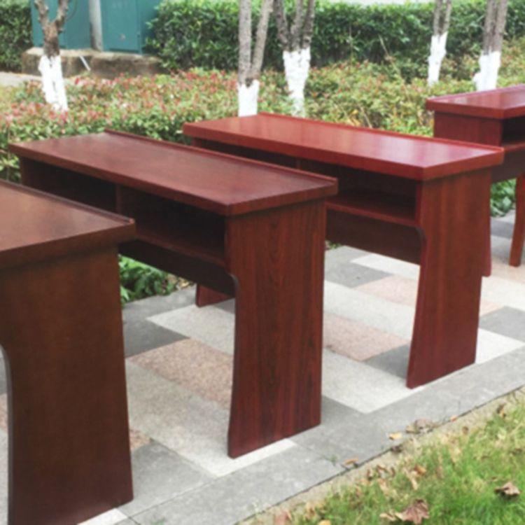 红木会议桌培训组合型桌子 双人学生课桌演讲台主席讲台主持批发