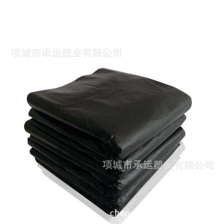 厂家直销现货大号加厚黑色垃圾袋酒店环卫学校通用黑色平口垃圾袋