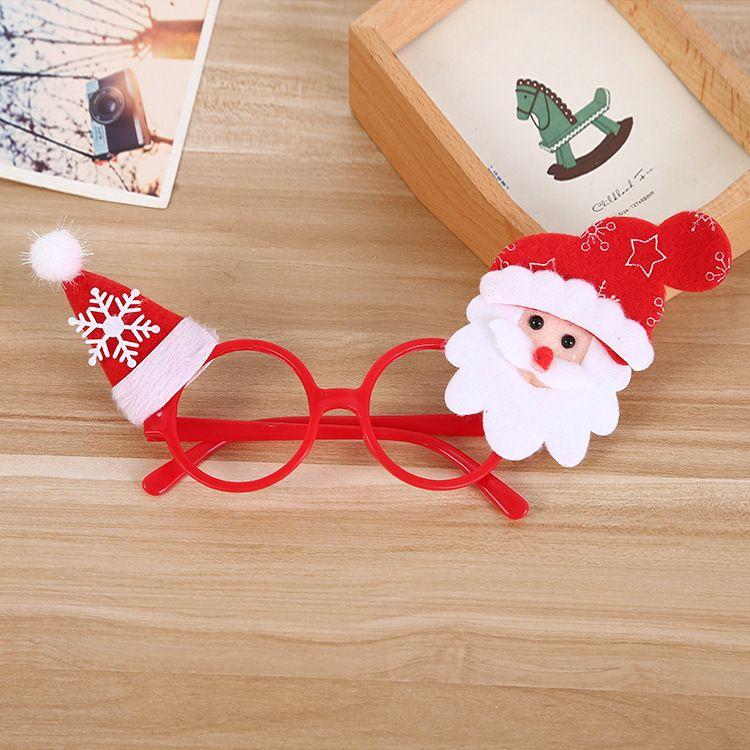 圣诞眼镜 麋鹿角眼镜卡通儿童圣诞眼镜老人雪人圣诞派对用品