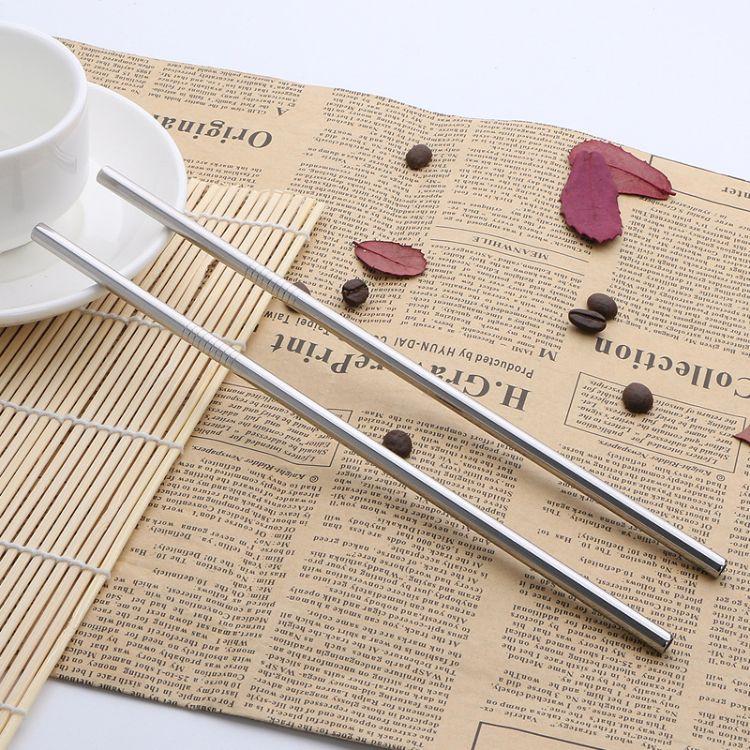 304不锈钢吸管酒店餐吧吸管果汁直吸管饮料咖啡搅拌吸管厂家直销