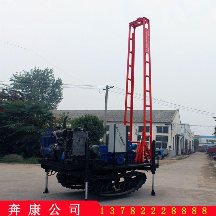 液压履带式水井钻机 深孔钻井机小型家用水井钻机
