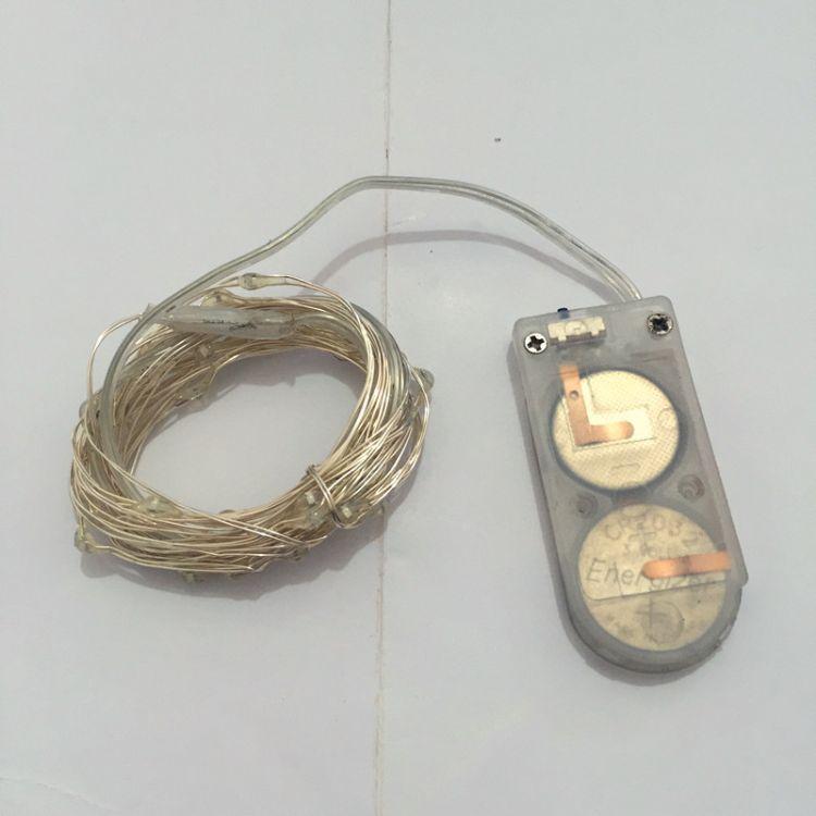 纽扣USP电池盒20灯头铜线灯串圣诞装饰太阳能灯串厂家直销