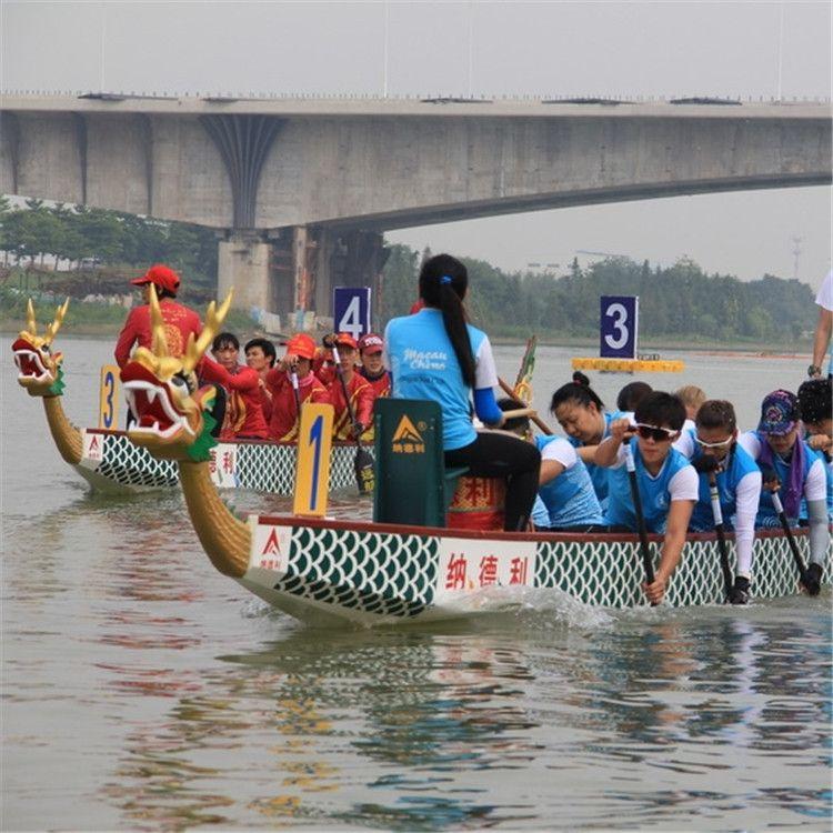 直销标准竞赛龙舟 端午比赛竞技龙船传统手划22人龙舟户外运动