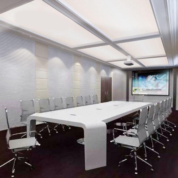 定制办公家具 白色钢琴烤漆会议桌 会议室 办公桌 简约会议台
