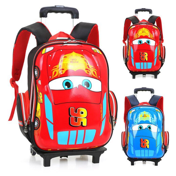 新款小学生拉杆书包潮流韩版可爱减负双肩背包六轮可拆卸拉杆书包