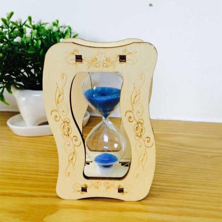 流沙计时器 创意木制桌面摆件 浪漫节日礼物家居装饰
