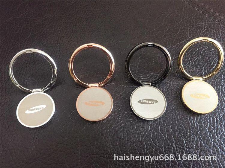 厂家直销圆形磁吸手机指环支架 车载手机支架logo可订制