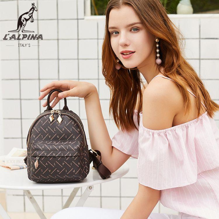 阿尔皮纳袋鼠新款女包时尚印花双肩包简约户外旅行女包一件代发