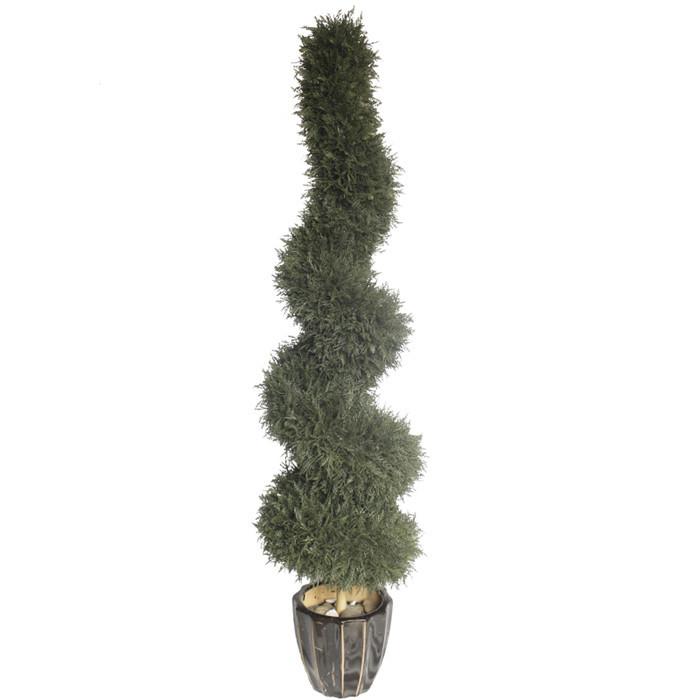 仿真螺旋松柏造型树盆栽 室内外人造绿植造型设计 仿真盆栽植物