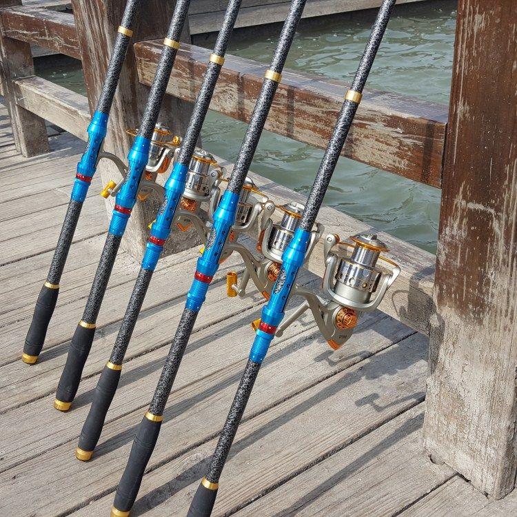 海竿鱼竿厂家批发远投抛竿钓鱼竿3.6 3.0 2.7 2.4 2.1米贴牌渔具