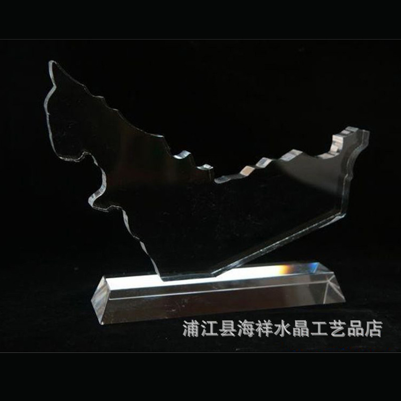 厂家直销K9水晶地图 创意精美工艺品 创意个性礼品 定制异性水晶