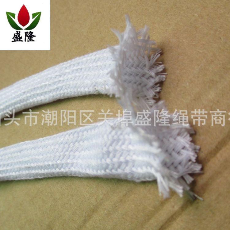 供应漂白编织棉绳 各种涤棉鞋带 空心棉绳鞋带 量大价优