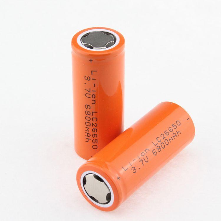 A品电芯26650锂电池强光手电筒专用3.7V充电