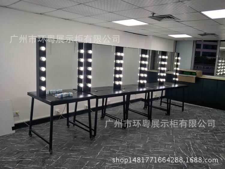 美容院培训学校带灯化妆台上墙化妆镜美发镜台落地试衣镜梳妆台子