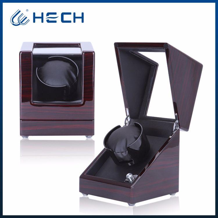 厂家现货批发手表自动旋转黑檀加白自动上链进口马达摇表器电动盒
