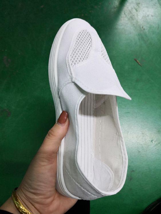 厂家批发防静电帆防静电无尘鞋女鞋小白鞋车间低帮工作鞋白布鞋