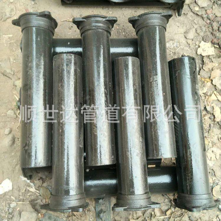 顺世达A型柔性接口铸铁排水管 A型法兰接口 市政排水铸铁管