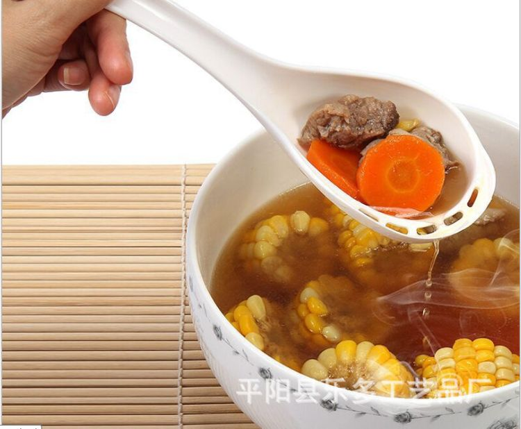 厨房用品侧漏汤勺长柄大调羹家庭火锅料理勺舀汤过滤