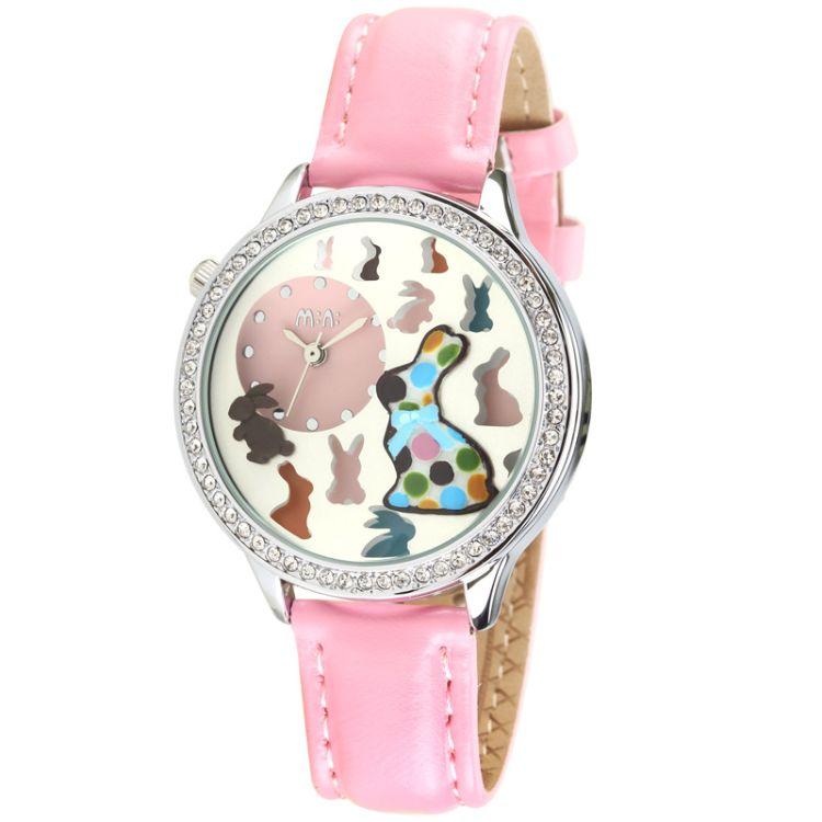 正品韩国MN手表 时尚学生表批发女士手表兔子 MN2040