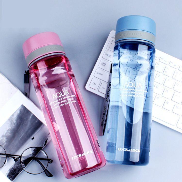乐扣运动型塑料水杯 商务户外大容量770ml创意茶杯防漏HLC634