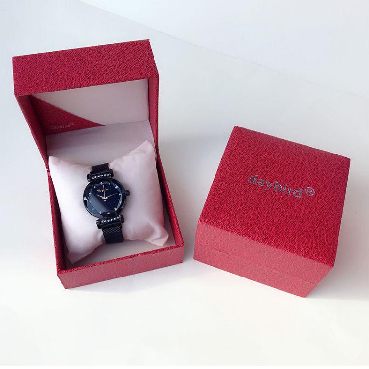 高档翻盖礼品手表包装盒 塑胶手表盒荔枝纹饰品首饰盒厂家定制