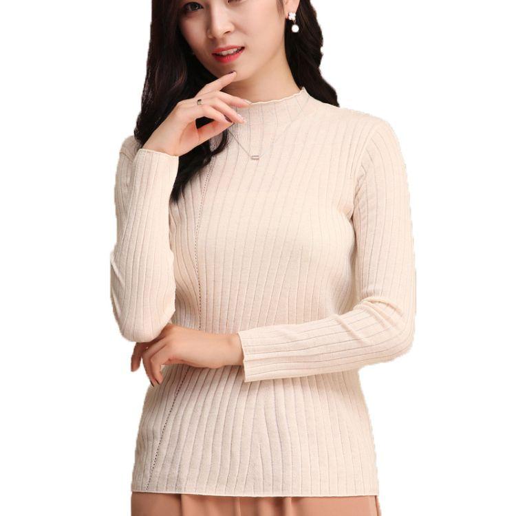 2019秋冬新款打底衫 毛衣羊绒衫女套头长袖 长袖韩版针织衫