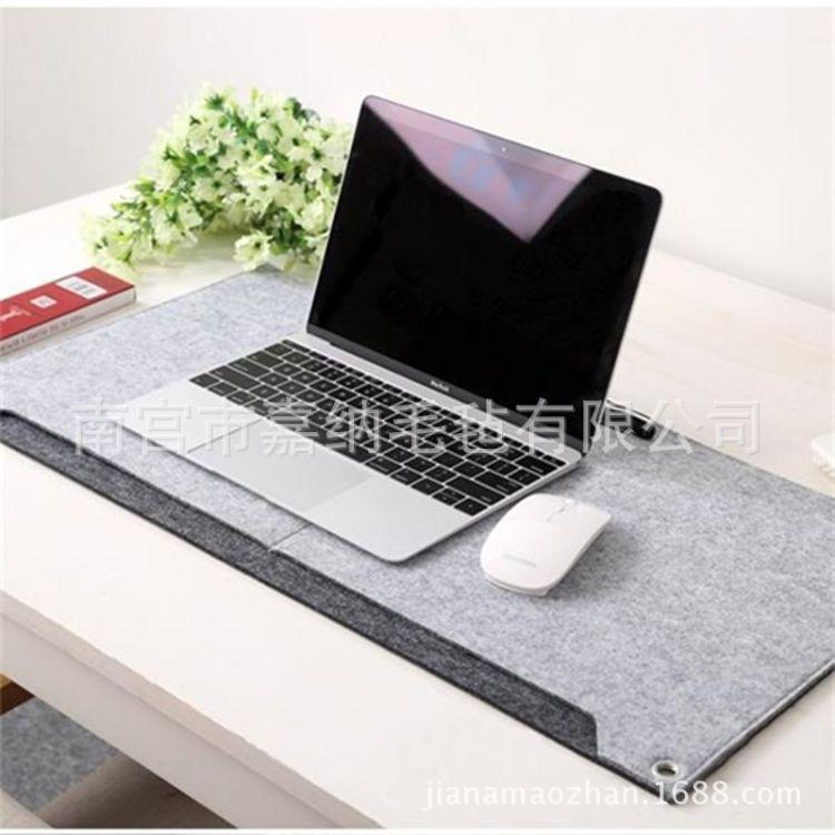 定制防滑毛毡鼠标垫 超大加厚键盘垫 办公桌垫 企业定制多功能创