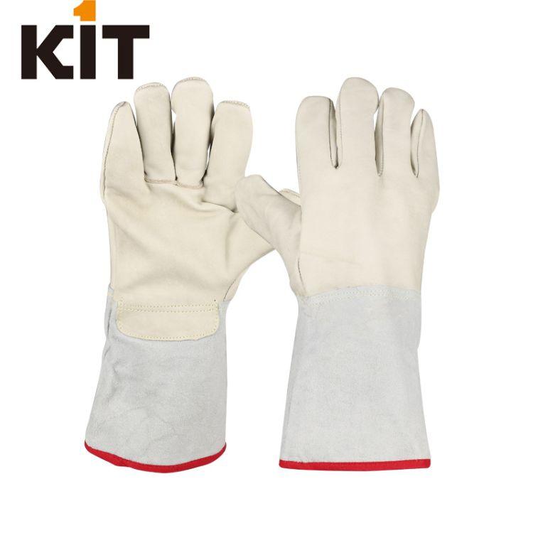 加长款牛皮防寒防冻劳保手套冷库冷藏作业保暖加厚耐低温防护手套