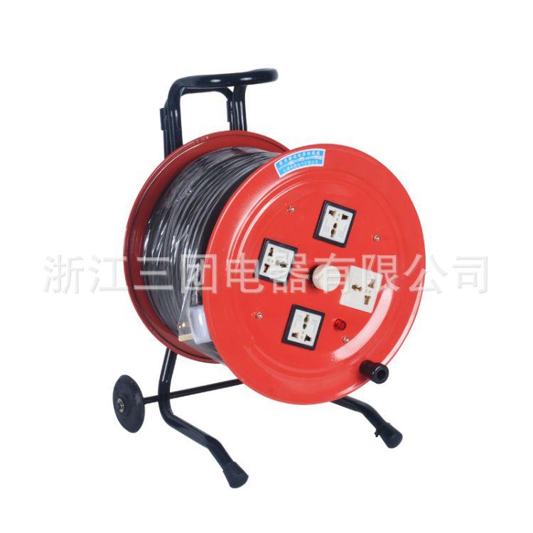 上海稳谷 100M移动线缆盘电缆盘 移动电源盘电缆盘2*2.5㎡ 拖线盘 卷线盘