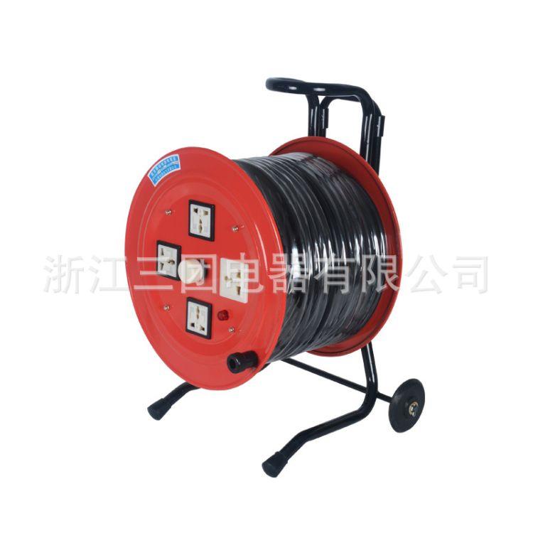 上海稳谷 直销 2*4㎡电缆卷线盘100M移动线缆盘拖线盘 电缆绕线盘