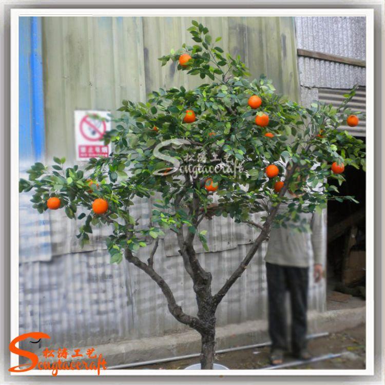 广州仿真果树生产厂家仿真桔树批发装饰假橘子树盆栽价格