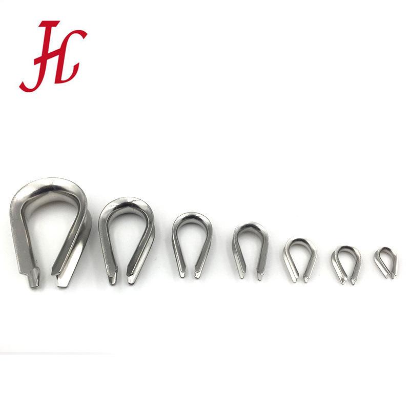 304不锈钢套环 鸡心环 钢丝绳三角环 钢丝绳保护套
